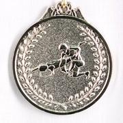 Медаль Борьба серебро фото