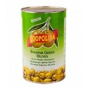 """Оливки зеленые """"Coopoliva"""" без косточки, 4300 мл фото"""