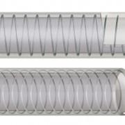 Рукав Transmetal PU, назначение: пневматика, гидравлика, нефтеперерабатывающая и химическая промышленность для подачи и всасывания воздуха, алкогольных и жирных пищевых жидкостей, абразивных материалов. Рабочая температура: -10°С + 60°С. Материал: ПВХ фото