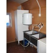 Вагон-дом кухня-столовая на шасси на раме или на санях фото