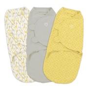 Конверт Summer Infant Конверт на липучке Swaddleme®, размер S/M, (3шт.), желтый/жирафы фото