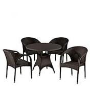 Комплект плетеной мебели T190AD/Y290B-W52 Brown 4Pcs фото