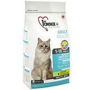 Корм 1st Choice Adult Healthy Skin & Coat Фест Чойс для кошек Здоровая кожа и шерсть с лососем, 2,72 кг фото