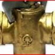 Кран конусный латунный газовый пробковый фото