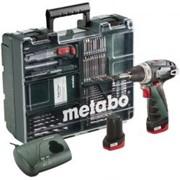 Шуруповерт METABO PowerMaxx BS Basic Mobile Workshop NEW + набор аксессуаров (63шт) (600080880) фото