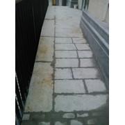 Чистка удаление ржавчины на граните и мраморе, брусчатке, тротуарной плитке ФЭМ фото
