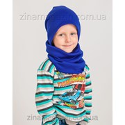 Детский комплект шапка + баф фото