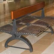 Скамейка двухсторонняя фото