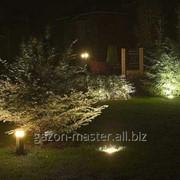 Устройство систем наружного освещения сада, парка фото