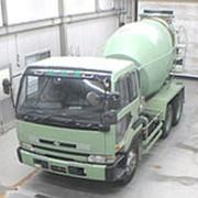 Автобетоносмеситель Nissan UD кузов CW53AHN г 1996 миксер грузоподъемность 10 тн пробег 201 т.км фото