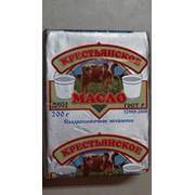 Масло сливочное Крестьянское Коровка м.д. ж.72,5% упаковка 200г .ГОСТ фото