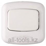Кнопка Светозар для звонка, цвет белый, 220В Код:58301 фото