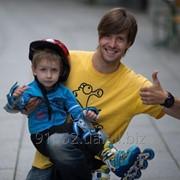 """Обучение детей и взрослых на роликах, скейтах и велосипеде на НСК """"Олимпийском"""" фото"""
