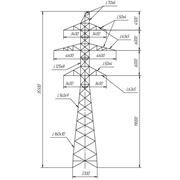 Типовые стальные промежуточно-угловые опоры ВЛ 500 кВ фото
