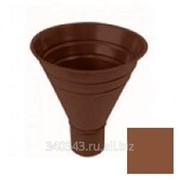 Воронка водосборная Plannja 125/87 коричневая Ral 8017 фото