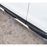 Пороги Subaru Forester 2013-2018 (вариант 3 труба с накладками 76 мм) фото