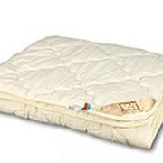 Одеяло из овечьей шерсти Люкс-меринос двуспальное среднее фото