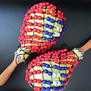 MA2B Маракасы пластиковые с бисером, Dadi фото