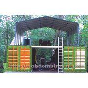 Дачный домик контейнерного типа фото
