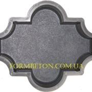 Формы для тротуарной плитки Клевер 4,5 см шагрень фото