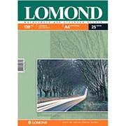 Фотобумага струйная, двусторонняя A4 Lomond матовая 130 г-25 листов фото