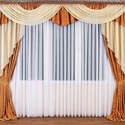 Пошив штор на заказ портьеры, ламбрекены, тюль, подхваты, сваги, бандо, римские шторы, австрийские шторы, французские шторы, японские шторы, шторы на люверсах, шторы на бретелях фото
