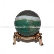 Сувенир Шар Зеленый Агат 210050 фото
