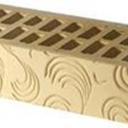 Кирпич керамический рельефный Завиток фото