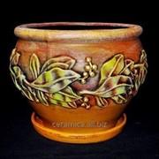 """Горшок для цветов из керамики ручной работы """"Зевс малый"""" фото"""