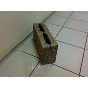 Керамзитобетонный блок М50 перегородочный 390х120х188 мм. фото