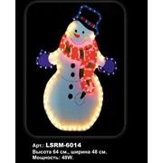 Световая фигура. Снеговик, 64*48см фото