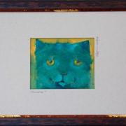 Картина голубой кот фото