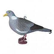 Чучело голубя вяхиря активный, полукорпусной, крепеж на палку, пластик, матовое, 180 г/шт (12 шт/уп) фото