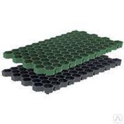 Газонная решетка РГ-70.40.3,2 пластиковая черная. Защита газона и грунта. фото
