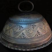 Глиняная хлебница с декором фото