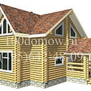 Дом из оцилиндрованного бревна. Проект Клин. фото