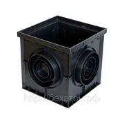 Дождеприемник пластиковый водоотводной размер 300*300*30 фото