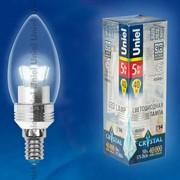 Лампа CRYSTAL серия (Специальная серия для хрустальных люстр) LED-C37P-5W/NW/E14/CL ALC02SL пластик фото