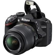 Цифровая зеркальная фотокамера D3200 KIT + 18-55VR Black фото