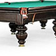Бильярдный стол для русского бильярда Tower 9ф (черный орех, 6 ног, плита 25 мм) фото