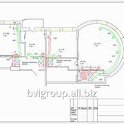 Монтажная схема системы кондиционирования квартиры — 137 м2. фото