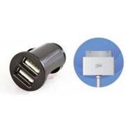 Автомобильное зарядное устройство EasyLink (2 в 1) +кабель Apple Dock Connector (EL-285) фото