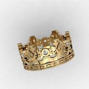 Обручальное кольцо Корона фото