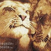 Набор для вышивания Влюбленные львы фото