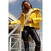 Яркий кашемировый жакет женский укороченного кроя (3 цвета) - Желтый АМ/-5610 фото