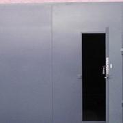 Гаражные ворота из металла фото