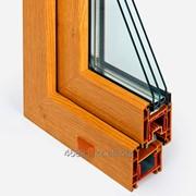 Профиль золотой дуб створки дверной Тб серии STARTEC 3-х камерный фото