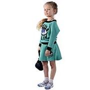 Модный детский костюм зеленого цвета 110 фото