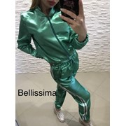 Женский спортивный костюм из атласа, в расцветках (Р-3-0418) фото