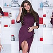 Замшевое платье женское - Бордовый фото